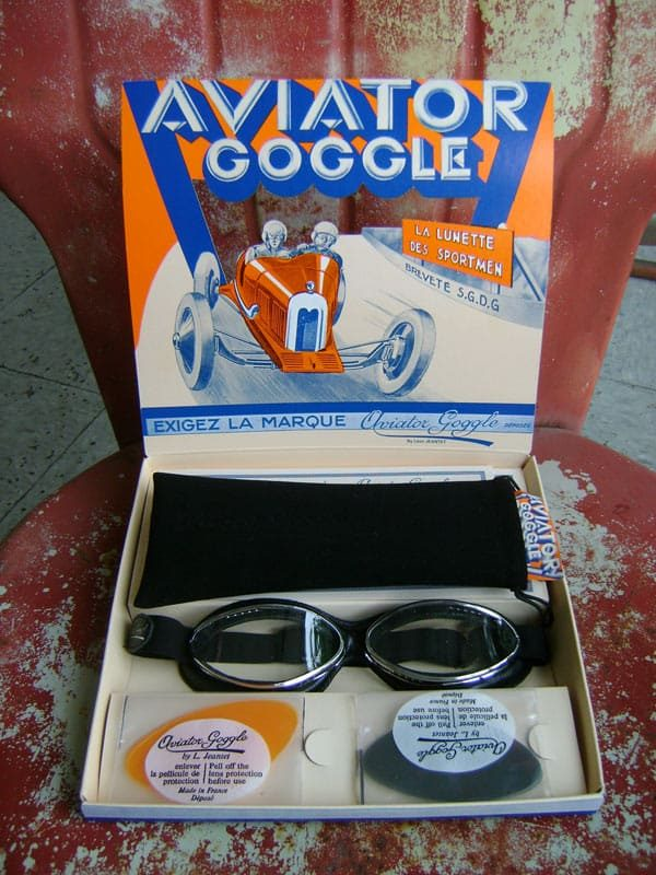 Aviator Goggle Cuir Roadster in box