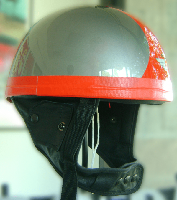 Davida Classic Helmet - Silver Red side view