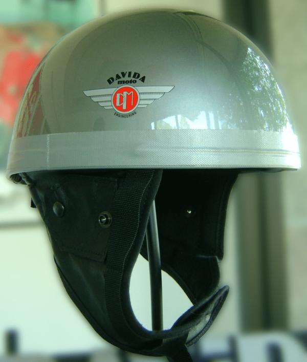 alt=Davida Classic Helmet - Silver