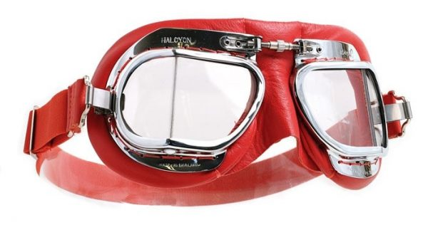 alt=Halcyon goggle Mk49 red leather