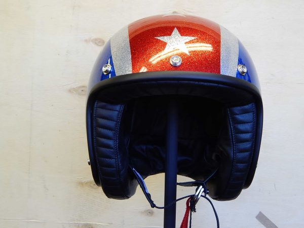 ALT=Davida Jet Helmet – Thunderbolt Metal Flake