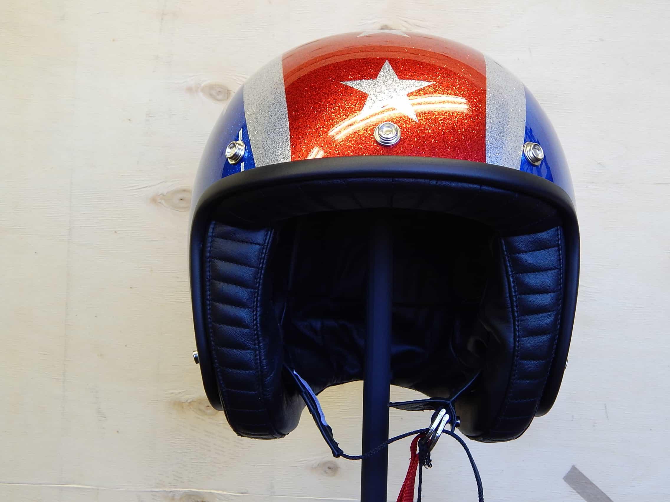 Davida Jet Helmet – Thunderbolt Metal Flake - Moto Amore d895e7522bb15