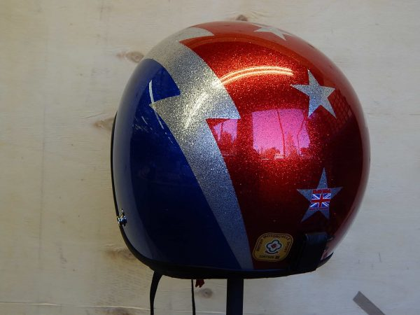 ALT=Davida Jet Helmet – Thunderbolt Metal Flake2