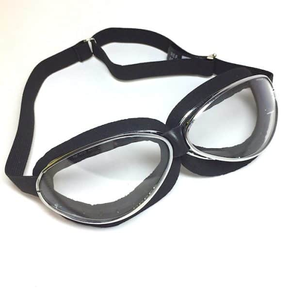 "Aviator Black Moss, Chrome framed ""lite"" Goggles"