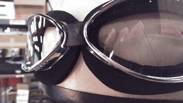 """Aviator Blk Moss/Chrome frame """"lite"""" goggles"""