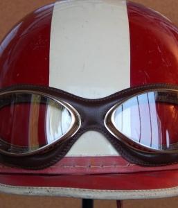 Davida Classic Helmet – Cream with Brown Leather - Moto Amore